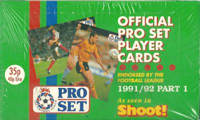 【サッカーカード】 SC 91/92 Pro Set Box (ボックス) / イングランドリーグトレーディングカード