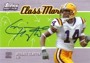 Michael Clayton 2004 Topps Draft Picks&Prospects Class Marks Autograph