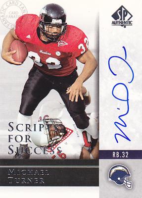【マイケル ターナー】2004 SP Authentic Scripts for Success Autographs (Michael Turner) (直筆サインカード)