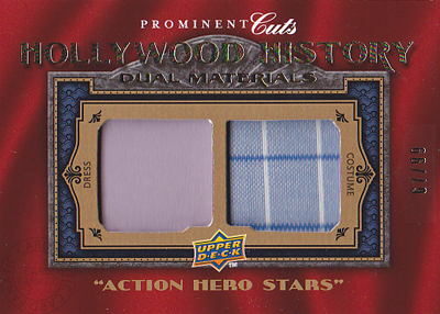 ムービーカード【ハリソン フォード】【パトリック スウェイジ】2009 UD Prominent Cuts Hollywood History Dual Relics 99枚限定!(Harrison Ford)(67/99)(Patrick Swayze)(Harrison Ford)