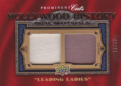ムービーカード【ベティ デイヴィス】【ハル ベリー】2009 UD Prominent Cuts Hollywood History Dual Relics 99枚限定!(13/99)(Bette Davis)(Halle Berry)