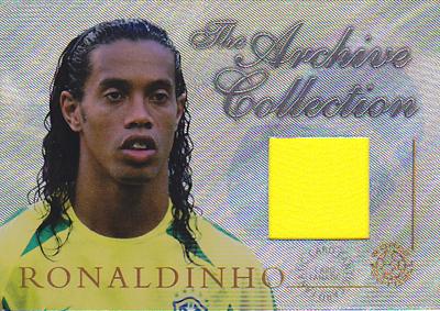 【ガウーショ ロナウジーニョ】 2004 Futera World Football Game Jersey 250枚限定!(221 of 250) (Gaucho Ronaldinho) (ジャージカード)(サッカーカード)