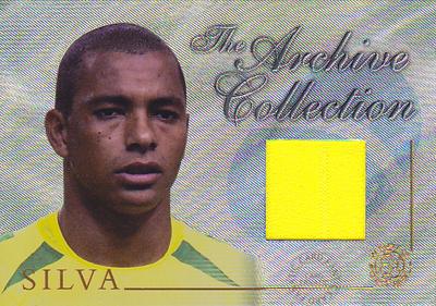 【ジウベルト シウバ】 2004 Futera World Football Game Jersey 250枚限定!(134 of 250) (Gilberto Silva) (ジャージカード)(サッカーカード)