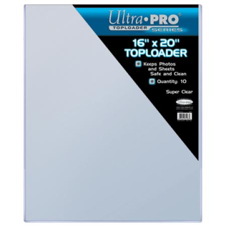 """ウルトラプロ (Ultra Pro) 16x20 トップローダー 10枚入りパック #81187   16"""" X 20"""" Toploader"""