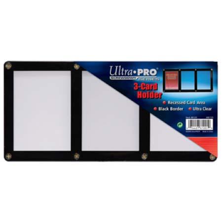 ウルトラプロ (Ultra Pro) 3カード用 黒枠フレーム スクリューダウン #81201   3-Card Black Frame Screwdown Holder)