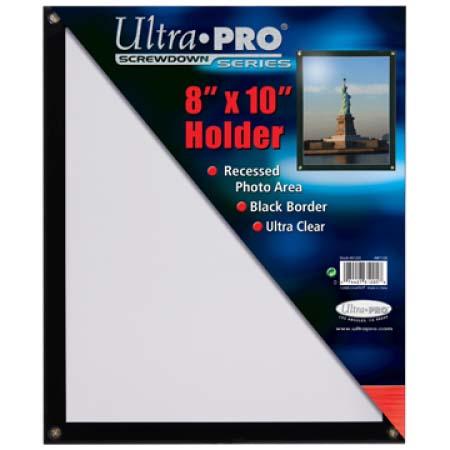 ウルトラプロ(Ultra Pro) 8x10用 黒枠フレーム スクリューダウン #81205 | Photo 8x10 Black Frame Screwdown Holder