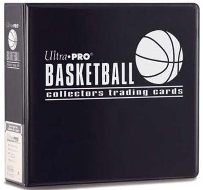 "Ultra Pro (ウルトラプロ) バスケットボールアルバム ブラック 3リング (#81401) | 3"" Black Basketball Album"