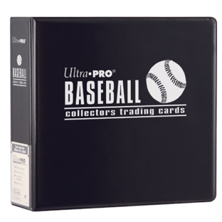 "Ultra Pro (ウルトラプロ) ベースボールアルバム ブラック 3リング (#81402) | 3"" Black Baseball Album"