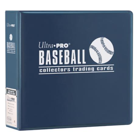 "Ultra Pro (ウルトラプロ) ベースボールアルバム ネイビー 3リング (#81394)   3"" Blue Baseball Album"