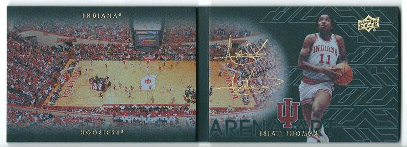 アイザイア・トーマス 2013-14 UD Black Arena Art Signatures Isiah Thomas Auto 42/65