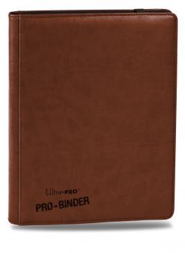 ウルトラプロ (Ultra Pro) プレミアム プロ バインダー ブラウン #84199 | Premium 9-Pocket Brown PRO-Binder