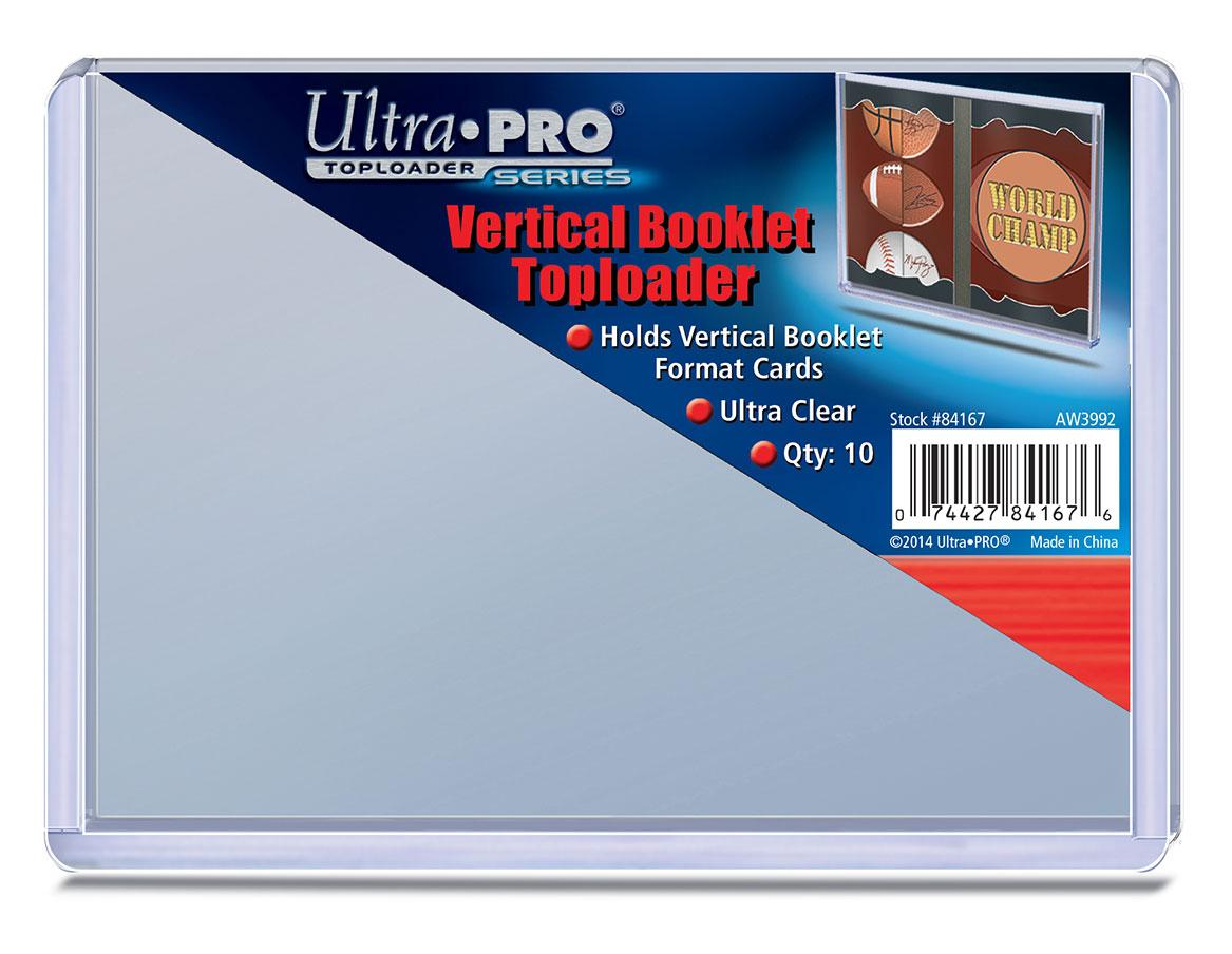 ウルトラプロ (Ultra Pro) トップローダー 縦型ブックレットカード用 10枚入りパック #84167   Vertical Booklet Toploader