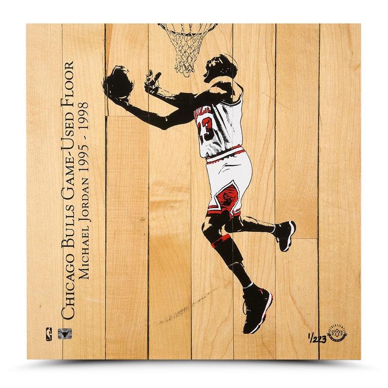 マイケル・ジョーダン 試合実使用フロア Michael Jordan Chicago Bulls Game-Used Floor Display