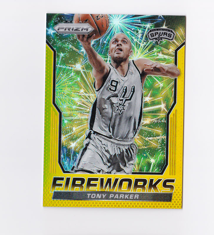 トニー・パーカー Tony Parker NBA 2014-15 Prizm Fireworks Gold Prizm 3/10
