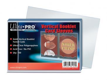 ウルトラプロ(Ultra Pro) カードスリーブ 縦型ブックレットカードサイズ対応 100枚入り #84169 | Vertical Booklet Card Sleeves | Vertical Booklet Card Sleeves