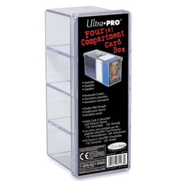 Ultra Pro (ウルトラプロ) プラスチックケース 4コンパートメント (クリア)|4-Compartment Clear Card Box #81163