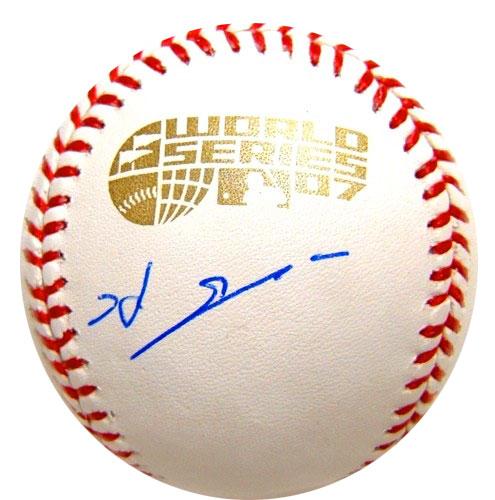 岡島秀樹 / Hideki Okajima 直筆サインボール / 2007 ワールドシリーズ公式球