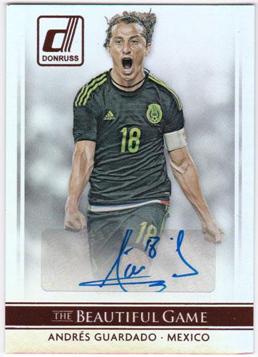 アンドレス・グアルダード 2015 Panini Donruss The Beautiful Game Signatures Auto 直筆サインカード / Andres Guardado