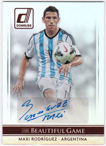 マキシ・ロドリゲス 2015 Panini Donruss The Beautiful Game Signatures Auto 直筆サインカード / Maxi Rodriguez