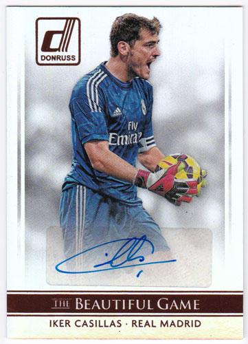 イケル・カシージャス 2015 Panini Donruss The Beautiful Game Signatures Auto 直筆サインカード / Iker Casillas