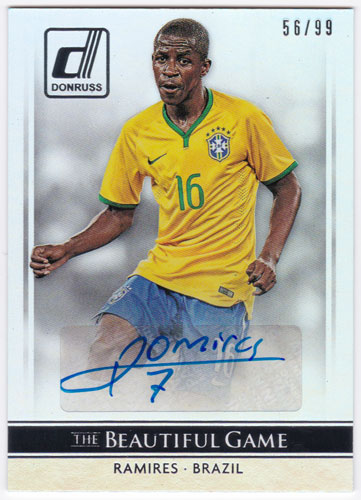 ラミレス 2015 Panini Donruss The Beautiful Game Signatures Auto Silver 56/99 直筆サインカード / Ramires