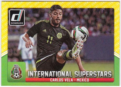 カルロス・ベラ 2015 Panini Donruss International Superstars Gold Panini Logo 07/10 Carlos Vela