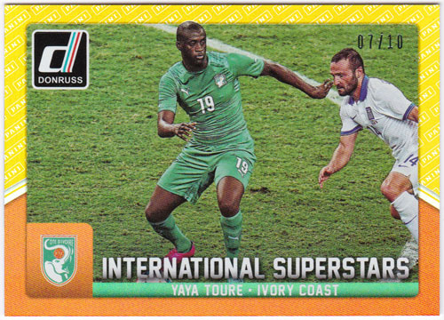 ヤヤ・トゥーレ 2015 Panini Donruss International Superstars Gold Panini Logo 07/10 Yaya Toure