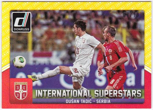 ドゥシャン・タディッチ 2015 Panini Donruss International Superstars Gold Panini Logo 07/10 Dusan Tadic