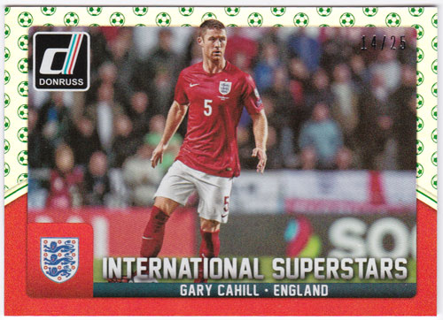 ガリー・ケーヒル 2015 Panini Donruss International Superstars Green Soccer Ball 14/25 Gary Cahill