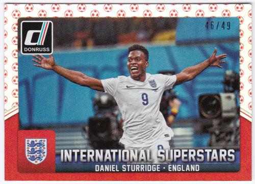 ダニエル・スタリッジ 2015 Panini Donruss International Superstars Red Soccer Ball 46/49 Daniel Strurridge