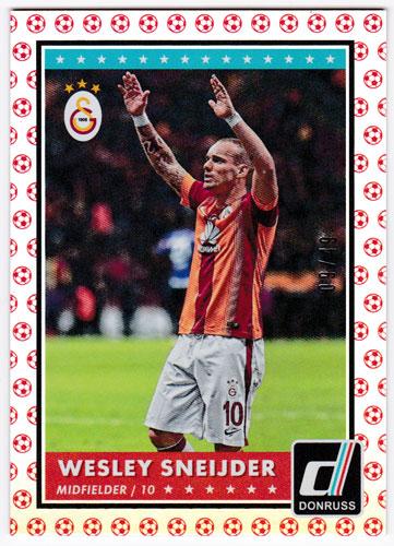 ヴェスレイ・スナイデル 2015 Panini Donruss Base Red Soccer Ball 09/49 Wesley Sneijder