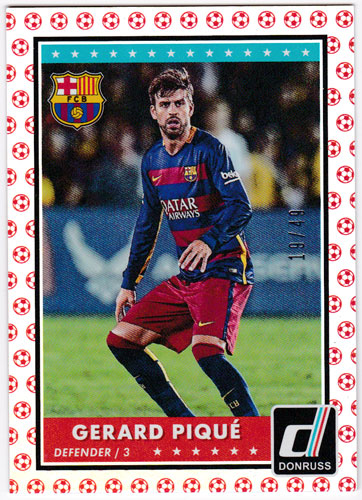 ジェラール・ピケ 2015 Panini Donruss Base Red Soccer Ball 19/49 Gerard Pique