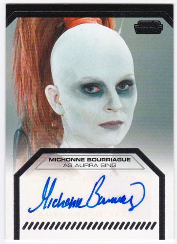 ミショーン・ボリアージュ 2012 Topps Star Wars Galactic Files Auto Michonne Bourriague as Aurra Sing