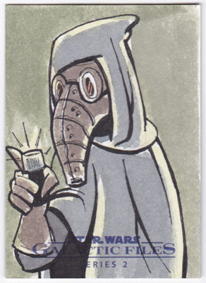 2013 Topps Star Wars Galactic Files 2 Sketch Card By Jeremy Scott