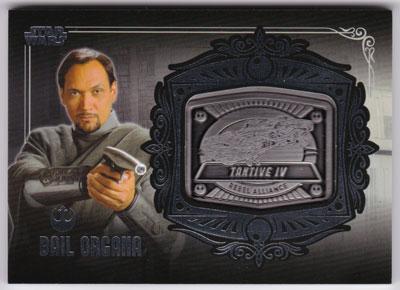 ベイル・オーガナ 2013 Topps Star Wars Galactic Files 2 Medallion Card Bail Organa