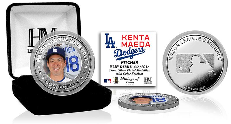 The Highland Mint (ハイランドミント) 前田健太 ロサンゼルス・ドジャース MLBデビューシルバーコイン (Kenta Maeda Silver Color Coin) 5/11入荷!