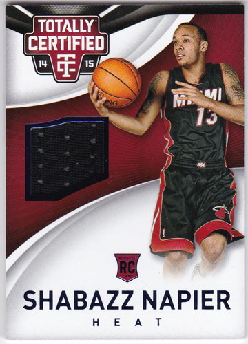 シャバズ・ネイピアー 2014-15 Panini Totally Certified Jersey Blue 044/199 Shabazz Napier