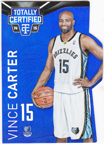 ヴィンス・カーター 2014-15 Panini Totally Certified Mirror Platinum Blue Die-Cuts 55/74 Vince Carter