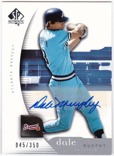 デール・マーフィー 2005 SP Authentic Signatures Auto 045/350 Dale Murphy