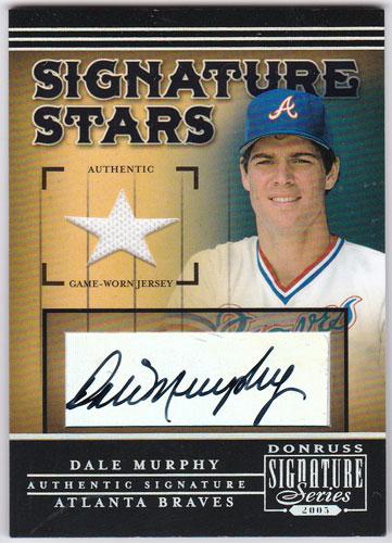 デール・マーフィー 2005 Donruss Signature Signature Stars Auto Jersey Dale Murphy