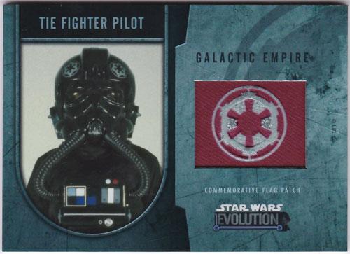 タイ・ファイター・パイロット 2016 Topps Star Wars Evolution Commemorative Flag Patch 007/170 Tie Fighter Pilot