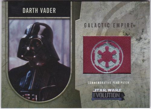 ダース・ベイダー 2016 Topps Star Wars Evolution Commemorative Flag Patch 162/170 Darth Vader