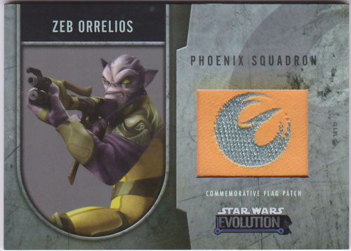 ゼブ・オレリオス 2016 Topps Star Wars Evolution Commemorative Flag Patch 063/170 Zeb Orrelios