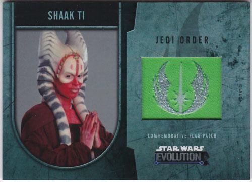 シャク・ティ 2016 Topps Star Wars Evolution Commemorative Flag Patch 052/170 Shaak Ti