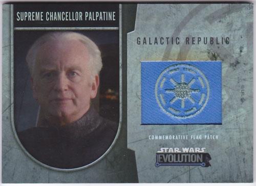 パルパティーン 2016 Topps Star Wars Evolution Commemorative Flag Patch 149/170 Supreme Chancellor Palpatine