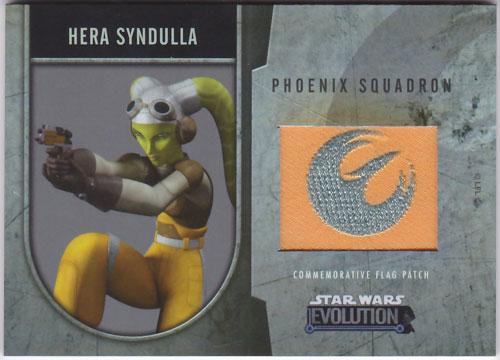 ヘラ・シンドゥーラ 2016 Topps Star Wars Evolution Commemorative Flag Patch 072/170 Hera Syndulla
