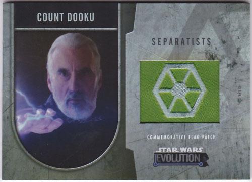 ドゥークー伯爵 2016 Topps Star Wars Evolution Commemorative Flag Patch 121/170 Count Dooku