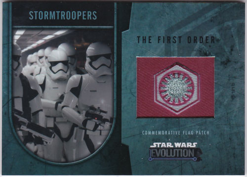 ストームトゥルーパーズ 2016 Topps Star Wars Evolution Commemorative Flag Patch 051/170 Stormtroopers