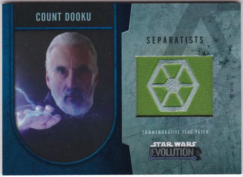 ドゥークー伯爵 2016 Topps Star Wars Evolution Commemorative Flag Patch Silver 28/50 Count Dooku