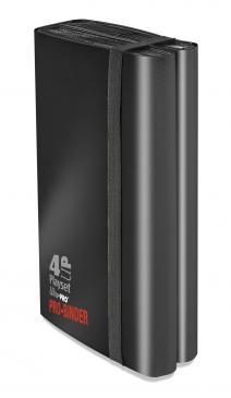 Ultra Pro (ウルトラプロ) 4アップ プレイセット プロバインダー ブラック (#84575)| 4-UP Playset PRO-Binder Black
